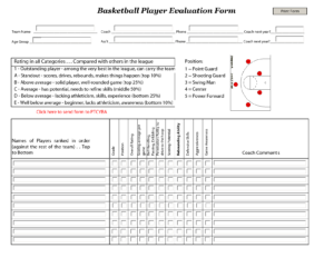 Basketball Player Evaluation Sheets | Marlon Bbal Stuff intended for Basketball Player Scouting Report Template