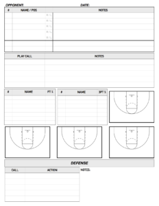 Basketball Scouting Report Sheet Template Excel Simple in Scouting Report Template Basketball