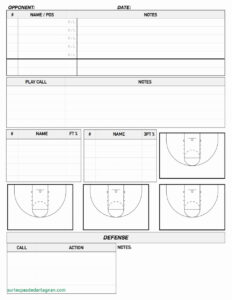 Basketball Scouting Report Template | Template Modern Design in Basketball Player Scouting Report Template