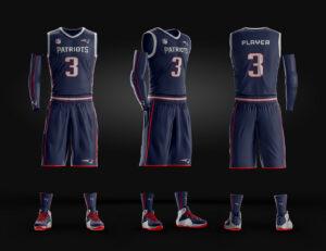 Basketball Uniform Jersey Psd Template On Behance pertaining to Blank Basketball Uniform Template