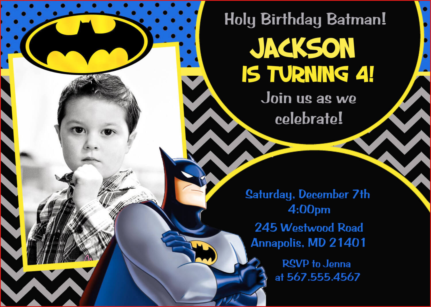 Batman Birthday Card Template Batman Superhero Birthday Throughout Batman Birthday Card Template