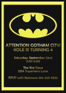Batman Birthday Card Template – Google Search | Luke for Superhero Birthday Card Template