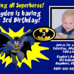 Batman Birthday Invitations Templates Ideas : Batman And In Superman Birthday Card Template