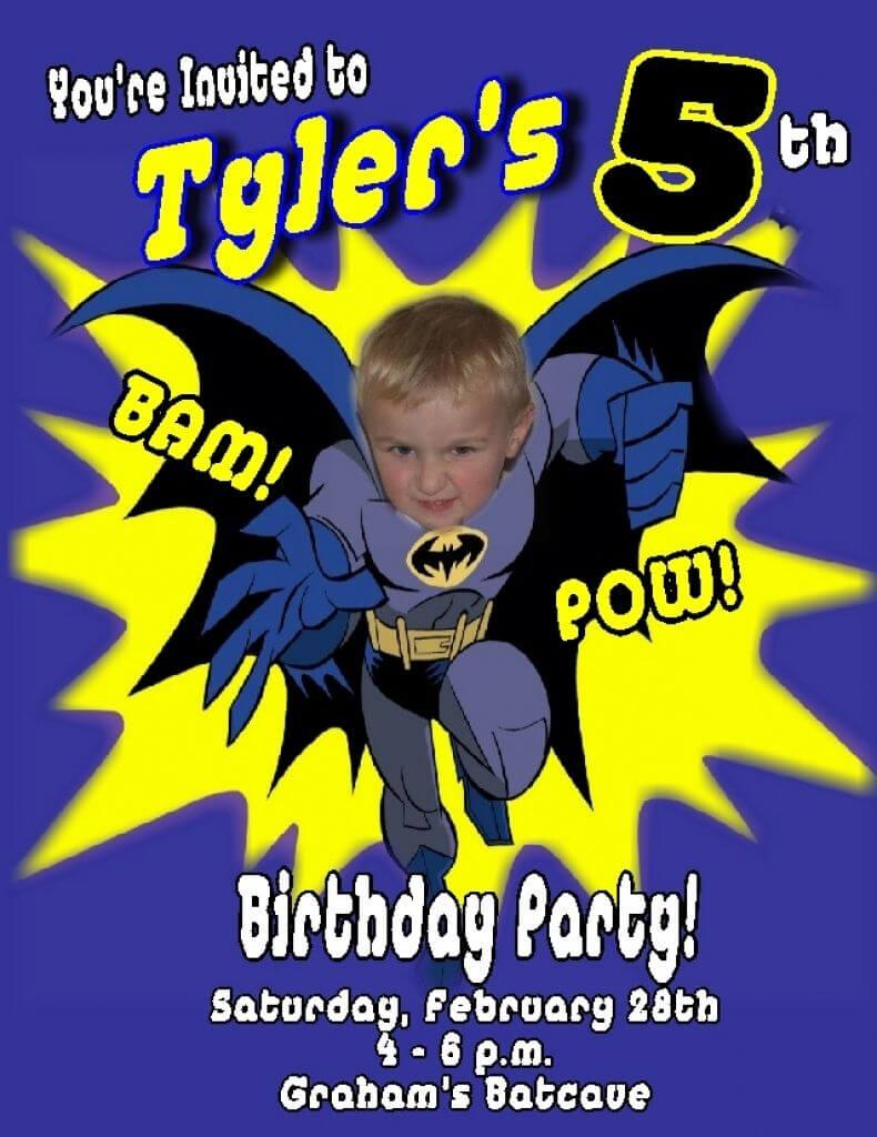 Batman Birthday Invitations Within Batman Birthday Pertaining To Batman Birthday Card Template