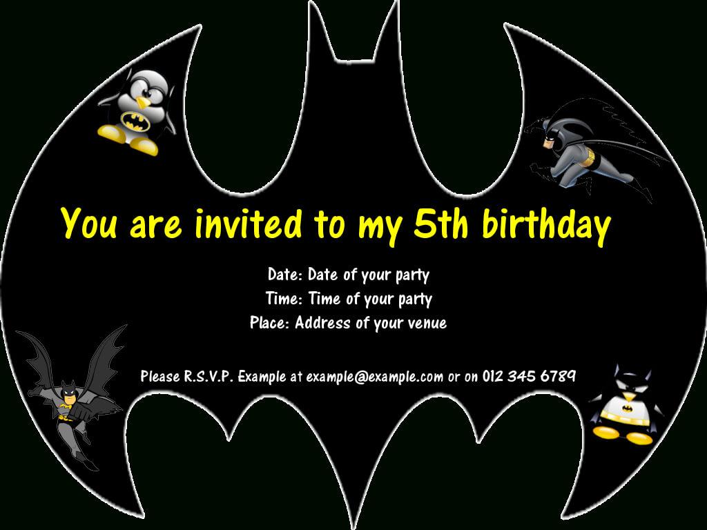 Batman Party Invitations … | Birthday In 2019 | Batman Party Throughout Batman Birthday Card Template