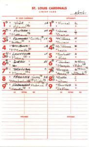 Batting Order (Baseball) – Wikipedia for Softball Lineup Card Template