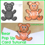Bear Pop Up Card Tutorial – Craftulate Intended For Teddy Bear Pop Up Card Template Free