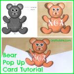 Teddy Bear Pop Up Card Template Free