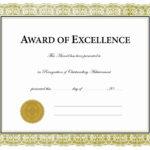Beautiful 5 Award Certificates Templates – Culturatti For Beautiful Certificate Templates