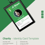 Beautiful Charity Identity Card Template   Free & Premium With Regard To Sample Of Id Card Template