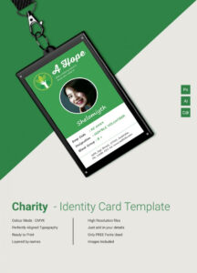 Beautiful Charity Identity Card Template | Free & Premium with regard to Sample Of Id Card Template