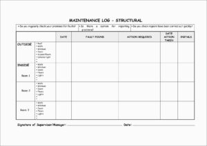 Beautiful Equipment Maintenance Log Template Free | Best Of With Equipment Fault Report Template