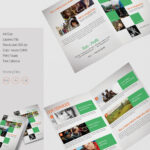 Beautiful Non Profit A4 Bi Fold Brochure Template | Free With Two Fold Brochure Template Psd