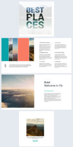 Beautiful Travel Guide Brochure Template – Flipsnack With Travel Guide Brochure Template