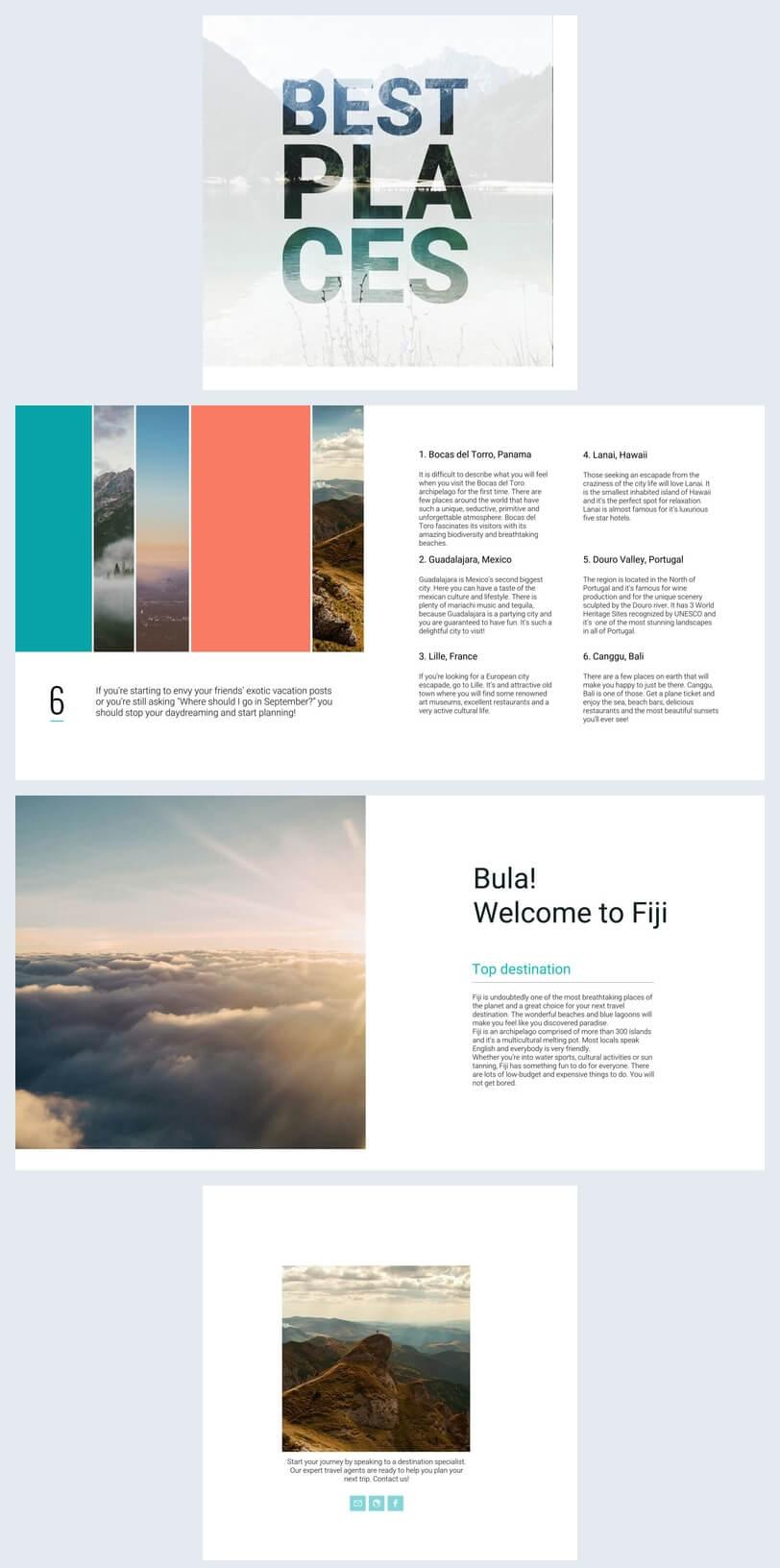 Beautiful Travel Guide Brochure Template – Flipsnack With Travel Guide Brochure Template