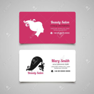 Beauty Parlour Visiting Card Design Free Download Salon Intended For Hairdresser Business Card Templates Free