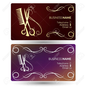 Beauty Salon And Hairdresser Business Card Template Vector Inside Hairdresser Business Card Templates Free