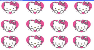"Beegoo Designs: ""hello Kitty Hearts"" Background & ""hello intended for Hello Kitty Banner Template"