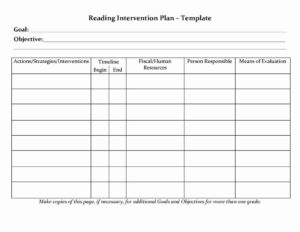 Behavior Intervention Reporting Form Brilliant Printable throughout Intervention Report Template