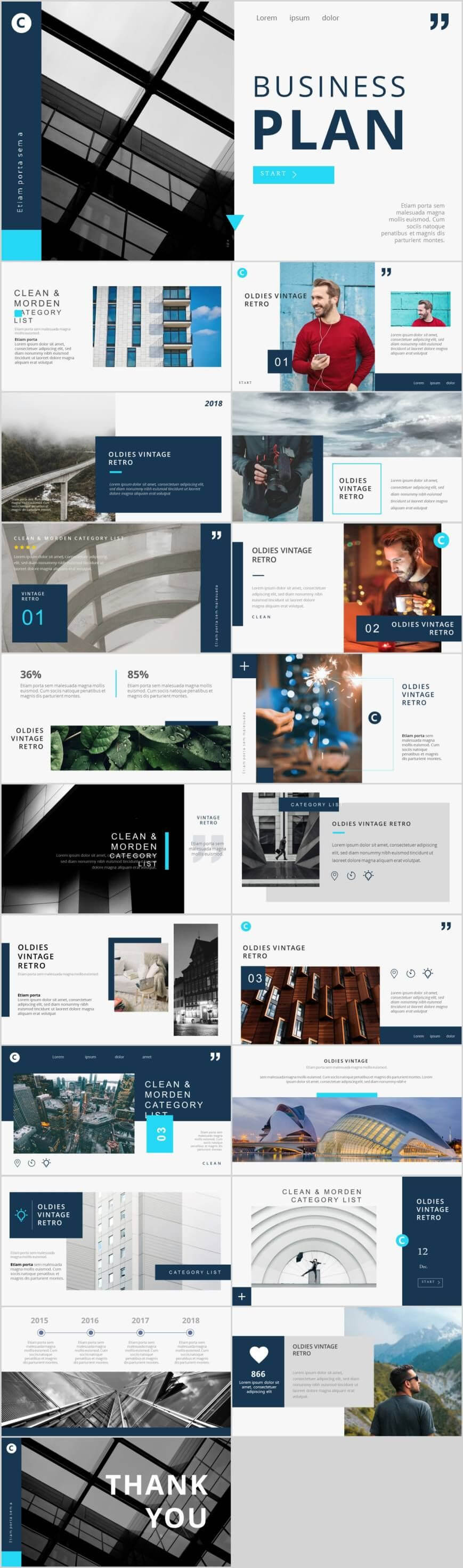 Best Blue Business Plan Charts Powerpoint Template – Pcslide Throughout Powerpoint Photo Slideshow Template