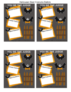 Best Costume Ballots   A Candy Corn Halloween Party 2013 intended for Halloween Costume Certificate Template