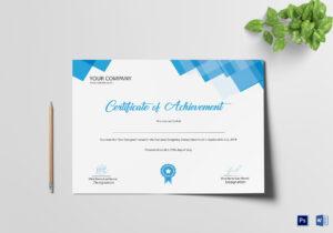 Best Designer Achievement Certificate Template with regard to Design A Certificate Template