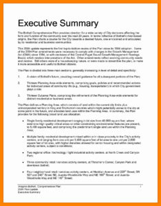 Best Of Executive Summary Report Example Amarieartja Com in Evaluation Summary Report Template