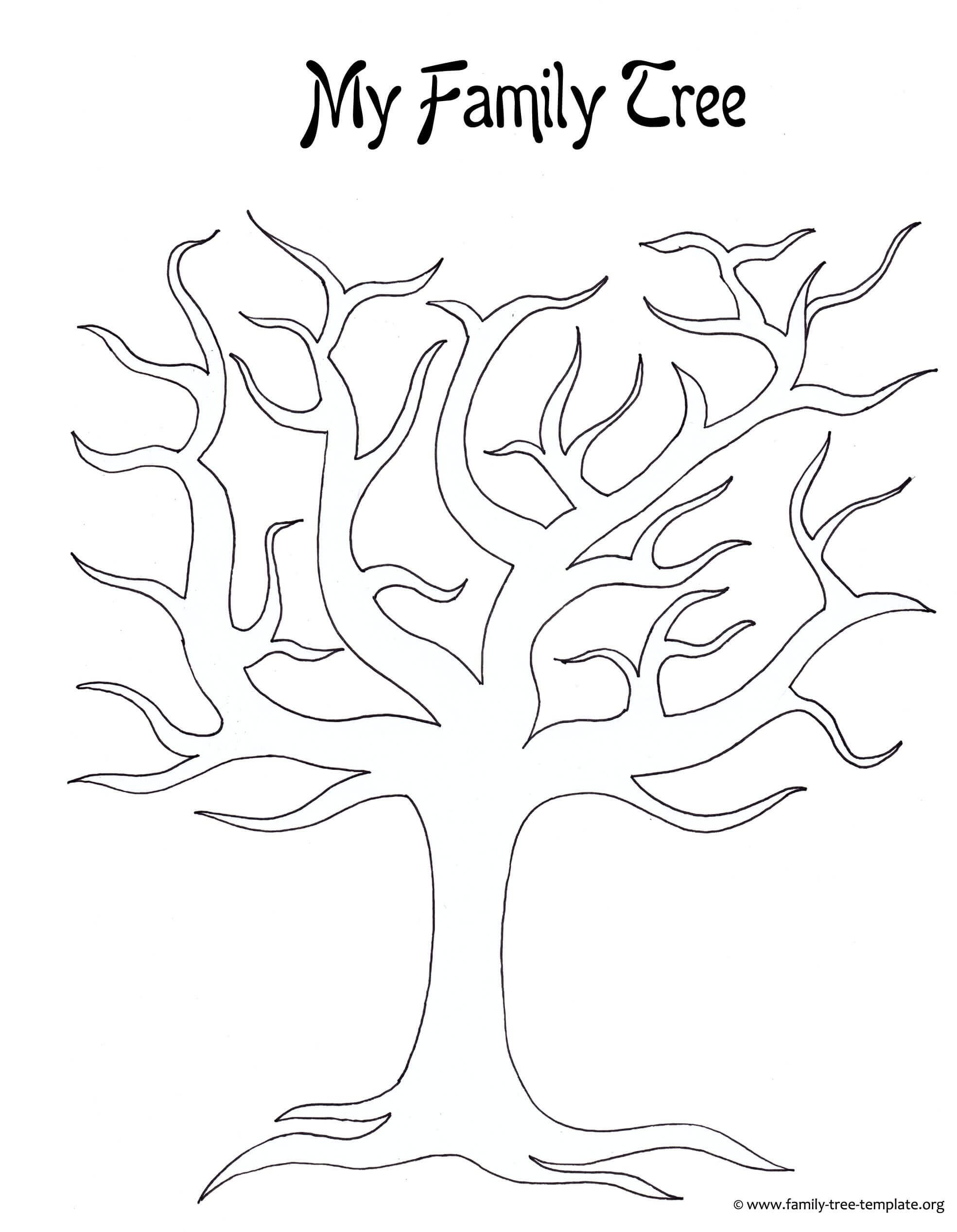 Best Photos Of Large Tree Template - Large Blank Family Tree Inside Blank Tree Diagram Template