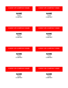 Best Photos Of Name Badge Templates – Name Badge Template throughout Visitor Badge Template Word