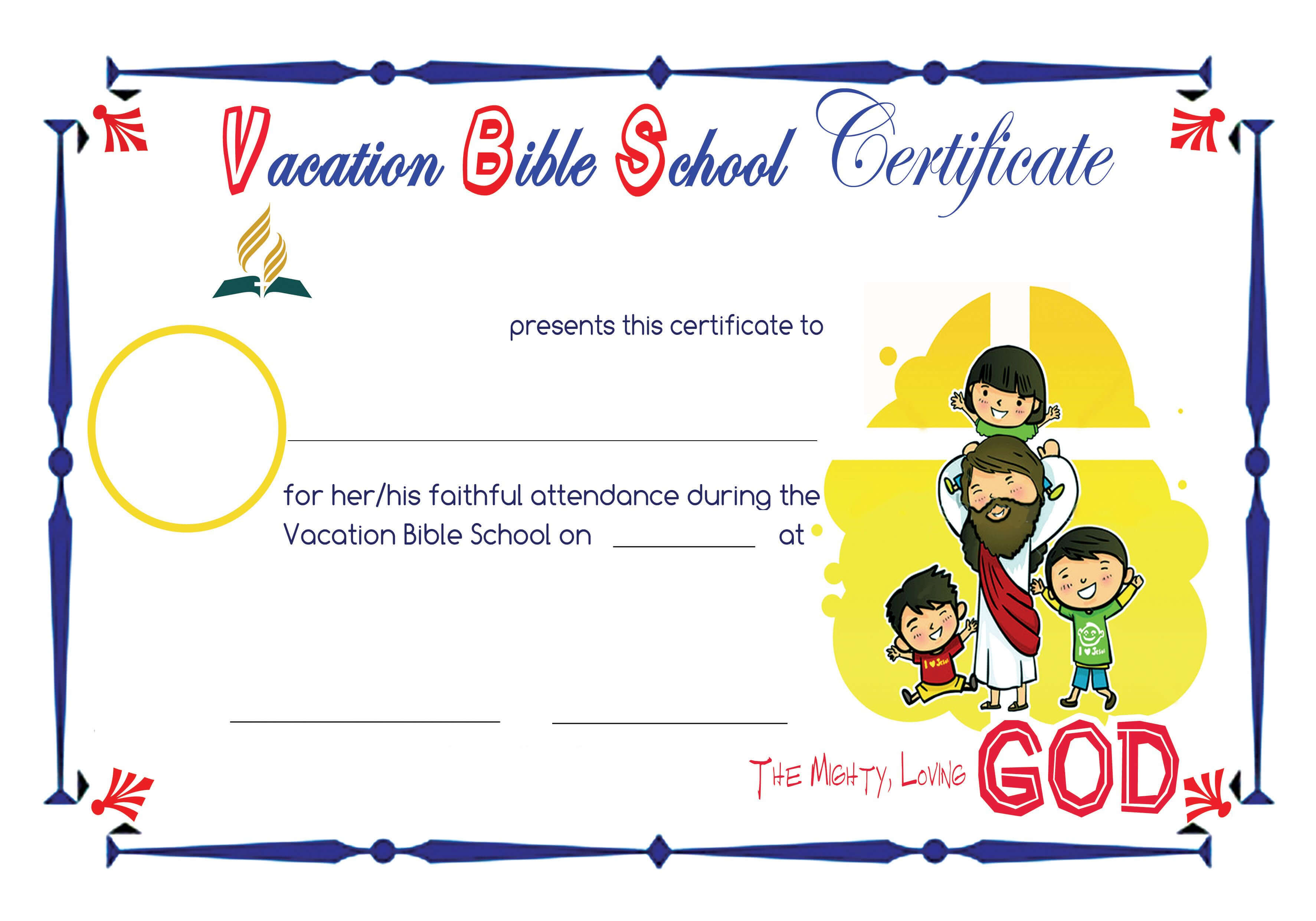 Bible School Certificates Pictures To Pin On Pinterest In Free Vbs Certificate Templates