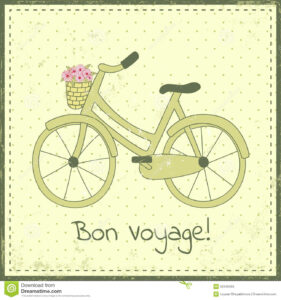 Bike Postcard Stock Vector. Illustration Of Design, Cycling for Bon Voyage Card Template