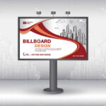 Billboard Banner Template Vector Design, Advertisement, Realistic.. regarding Outdoor Banner Template