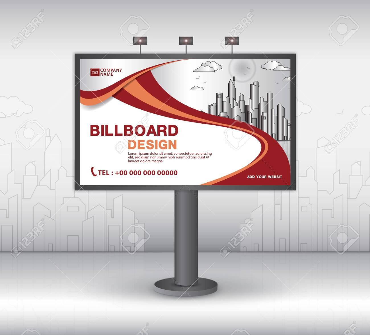 Billboard Banner Template Vector Design, Advertisement, Realistic.. Regarding Outdoor Banner Template