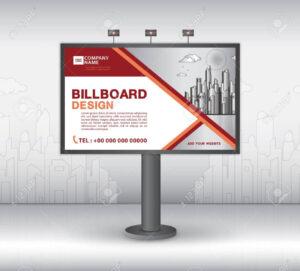 Billboard Banner Template Vector Design, Advertisement, Realistic.. throughout Outdoor Banner Template