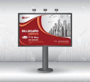 Billboard Banner Template Vector Design, Advertisement, Realistic.. with Outdoor Banner Template