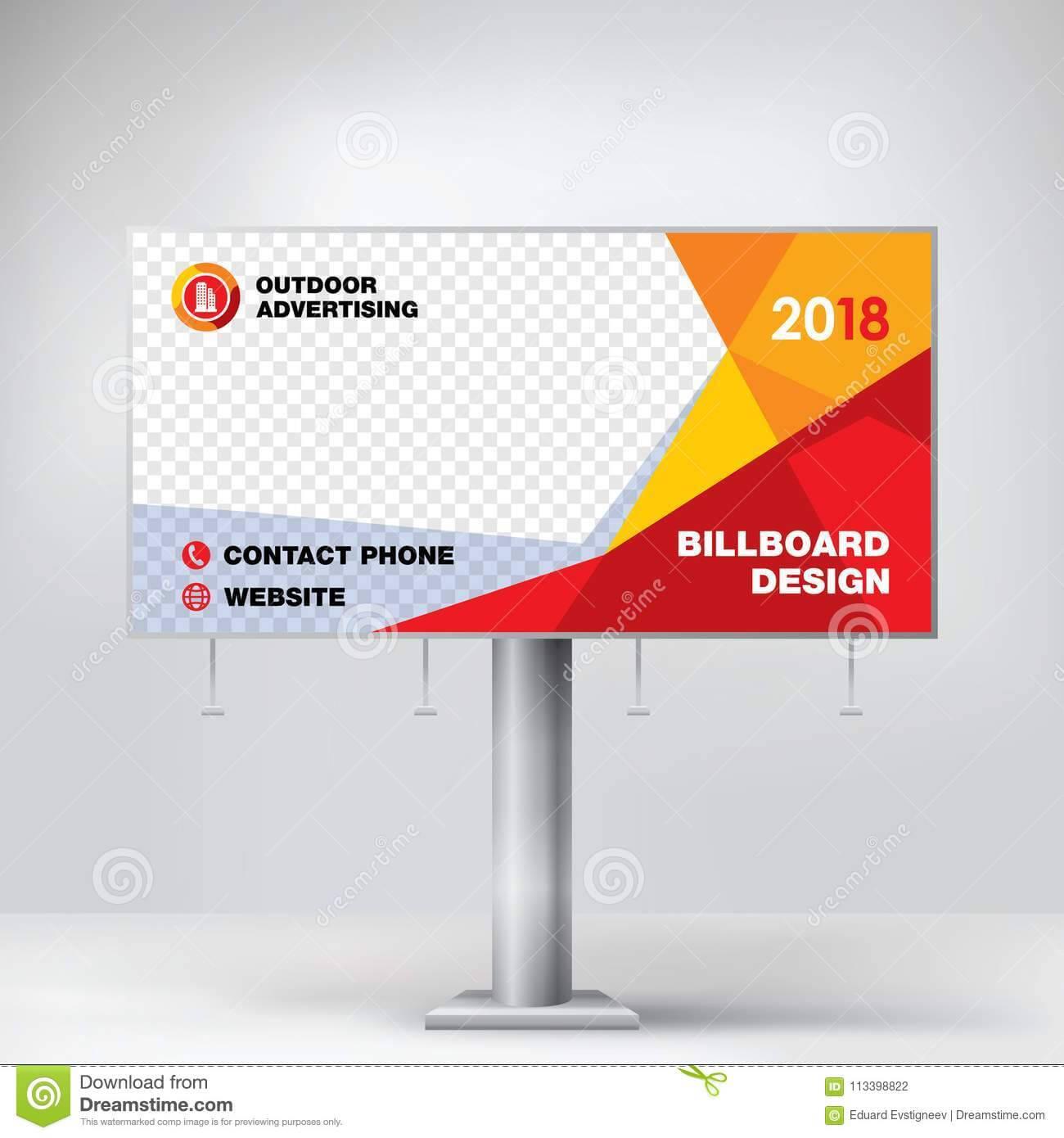 Billboard Design, Template For Outdoor Advertising, Modern For Outdoor Banner Design Templates