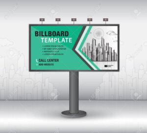 Billboard Design Vector, Banner Template, Advertisement, Realistic.. throughout Outdoor Banner Template