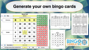 Bingo Card Generator Excel Tutorial inside Bingo Card Template Word