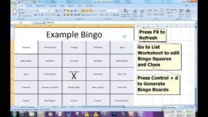 Bingo Card Generator – Microsoft Excel Free Download for Blank Bingo Card Template Microsoft Word