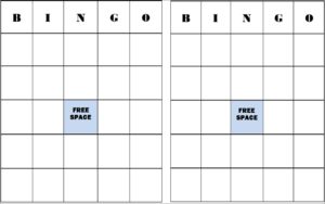 Bingo Templates with Blank Bingo Template Pdf