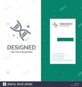 Bio, Dna, Genetics, Technology Grey Logo Design And Business In Bio Card Template