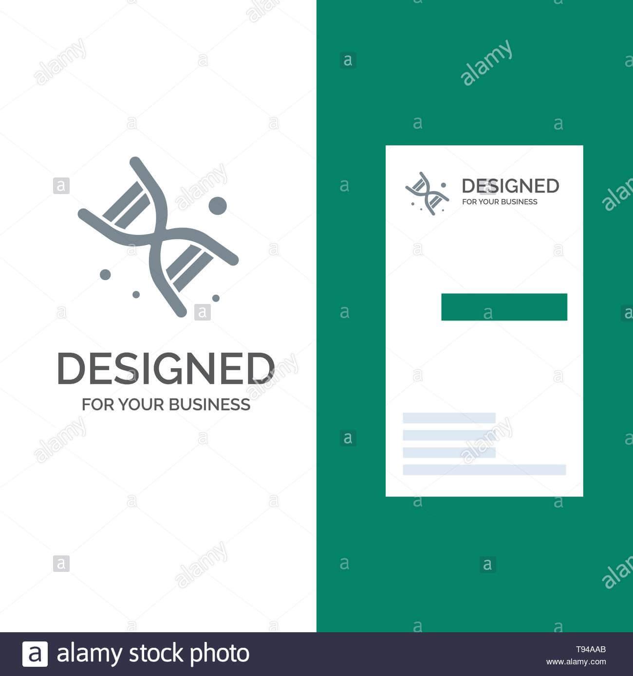 Bio, Dna, Genetics, Technology Grey Logo Design And Business In Bio Card Template