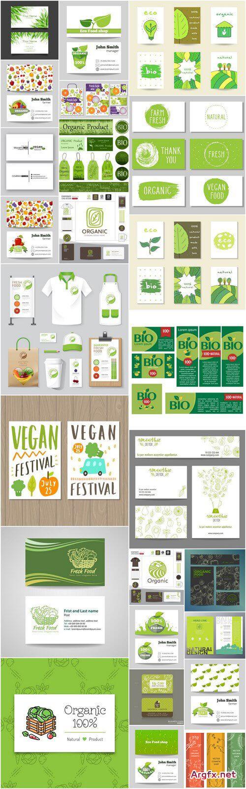 Bio Organic Card Template – 25 Vector » Free Download Vector Within Bio Card Template