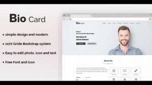 Biocard – Personal Portfolio Psd Template | Themeforest Website Templates  And Themes Throughout Bio Card Template