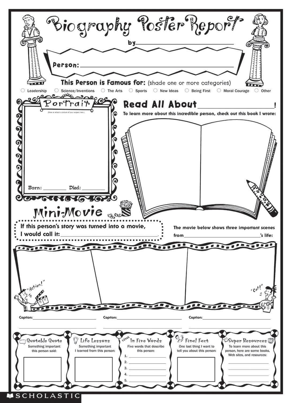 Biography Book Report Template |  Biography Report Inside Biography Book Report Template
