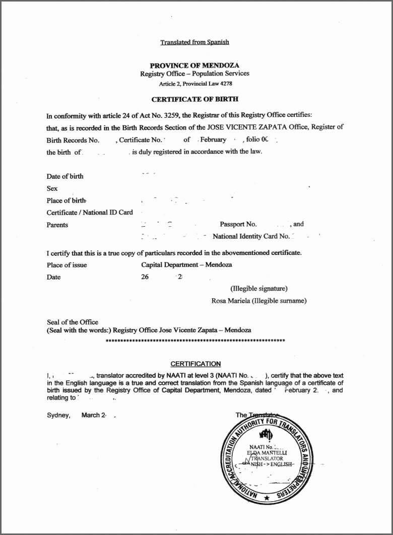 Birth Certificate Copy – Mallerstang With Regard To Spanish To English Birth Certificate Translation Template