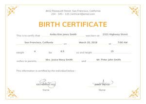 Birth Certificate Maker – Adaptpaper.co pertaining to Girl Birth Certificate Template