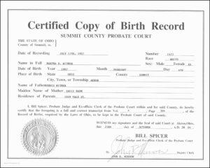 Birth Certificate Replacement Utah Simplex Get A Birth for Editable Birth Certificate Template