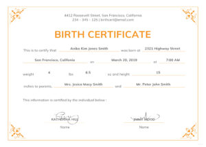Birth Certificate Template Or Full Uk With Texas Plus in Editable Birth Certificate Template