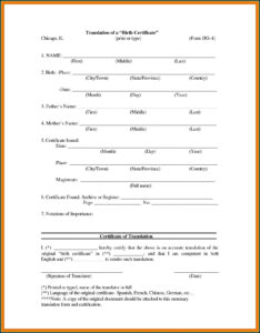 Birth Certificate Translation Template Uscis – Template 1 With Birth Certificate Translation Template Uscis